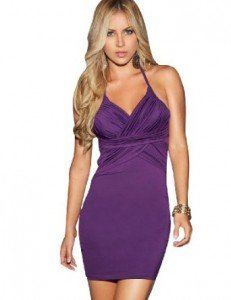 Espiral Halter Ruched Wrap Dress